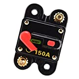 MagiDeal 150 Amp Manual Reset Circuit Breaker Switch 12V 24V Car SUV Marine Boat