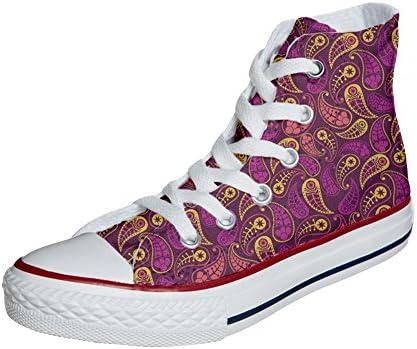 Originele schoenen met paisley-patroon.