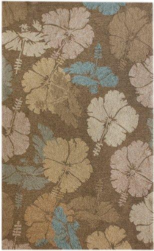 nuLOOM Brown Hand Hooked fiore Indoor/ Outdoor area rug Area Rug, 5' x 8' (Fiore Outdoor Furniture)