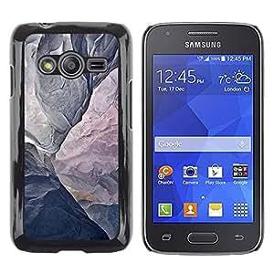 Be Good Phone Accessory // Dura Cáscara cubierta Protectora Caso Carcasa Funda de Protección para Samsung Galaxy Ace 4 G313 SM-G313F // Mountain Grey Texture Cliff Climbing