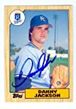 Danny Jackson autographed baseball card (Kansas City Royals) 1987 Topps #51T Traded Set
