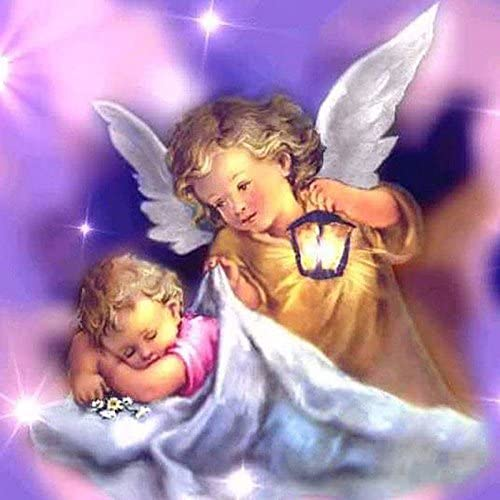 Angel baby AZZYZ 5d Diamond Painting Kits for Adults Kids Set Cup Full Drill Diamond dotz for Home Wall Decor Childrens Gift 12x16inch