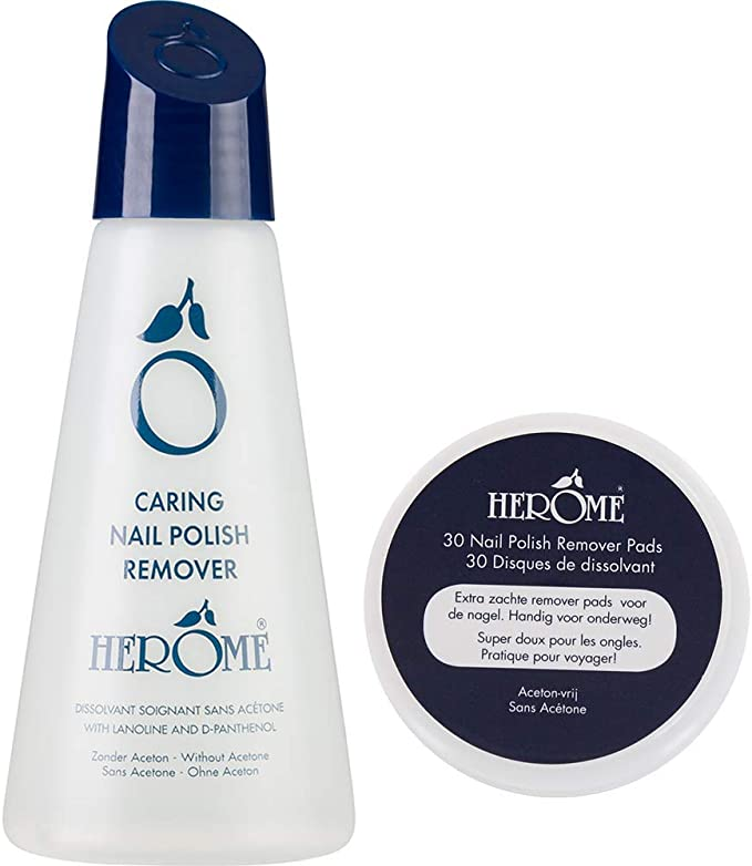 Herome Caring Nail Polish Remover 120ml For At Home 30 Pads Travel Size For 2 50 Msrp 6 94 Amazon Co Uk Beauty
