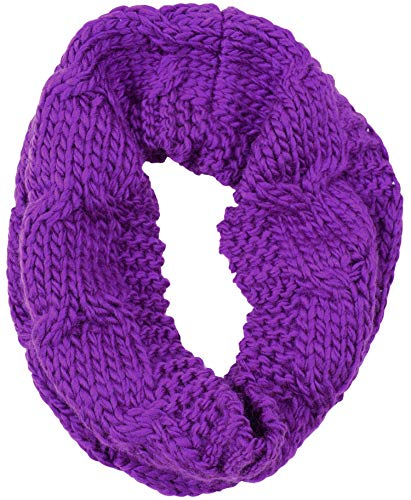 (ORSKY Women's Thick Ribbed Knit Winter Infinity Circle Loop Scarf Purple)