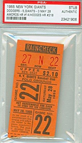 the best attitude dd812 dbb93 1955 New York Giants Ticket Stub vs Brooklyn Dodgers Gil ...