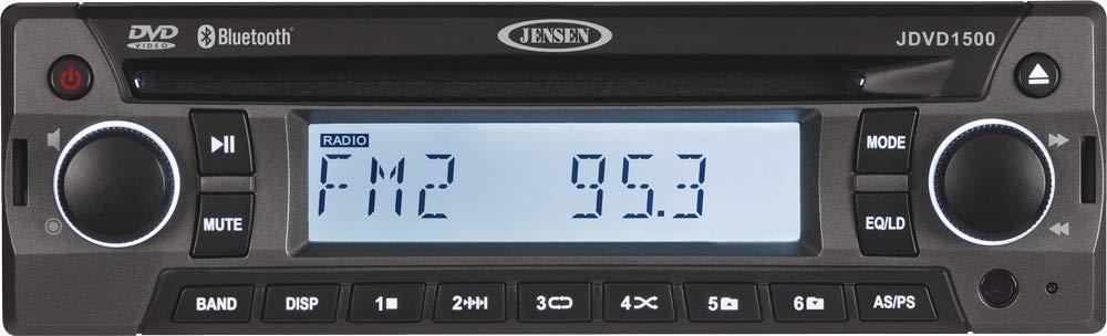 Jensen JDVD1500 AM/FM/CD/DVD/BT/Front Aux-in by Jensen