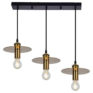 OOFAY Lámpara Colgante Cobre Diseño Contemporáneo,Tres Tipos ...