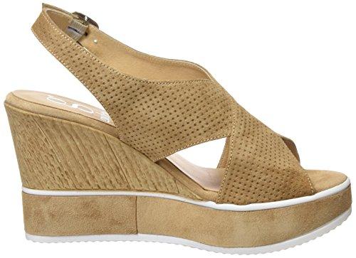 Gadea Women's 40635 Open Toe Sandals, Black Brown (Spice Skin Skin)