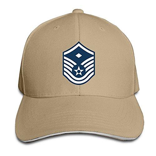Men & Women Dyed Cotton Adjustable Plain Baseball Cap Air Force Master Sergeant 1st SGT Diamond Rank Trucker Hat