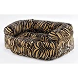 "Double Bolster Dog Bed Size: Large (42"" L x 32"" W), Color: Spa"