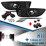 body kit mitsubishi lancer - For 2008-2014 Mitsubishi Lancer Clear Bumper Fog Lights Kit +12-5250 LED