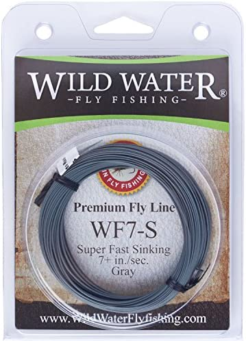 Wild Water Weight Forward 7-Weight Gray Super Fast Sinking Fly Fishing Line, 90 feet