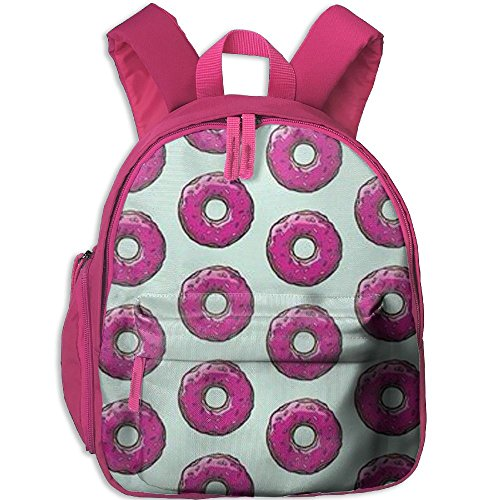 Doughnut Lightweight Backpack School Bag Travel Lunch Bags For School Opening With Side Pockets