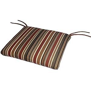 Sunbrella Outdoor/Indoor Seat Pads by Comfort Classics Inc. in Brannon Redwood