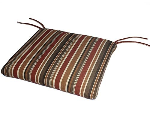 Sunbrella Outdoor/Indoor Seat Pads by Comfort Classics Inc. in Brannon Redwood