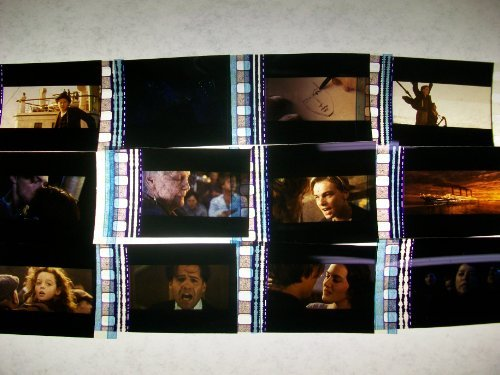 TITANIC Lot of 12 35mm Film Cells collectible memorabilia compliments dvd poster