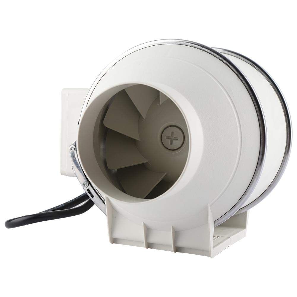 Inline Fan, High Efficiency Waterproof Inline Duct Fan Air Extractor Bathroom Ventilation System (110V US Plug)(4inch) by Yosoo (Image #1)