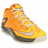 Nike Max Lebron XI Low Men Sneakers Atomic Mango/Kumquat/Med Base Grey/Lt Base Grey 642849-800 (Size: 9)