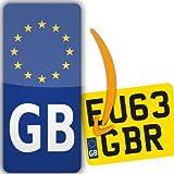 Euro Go Sticker en vinyle Plaque d'Immatriculation pour Moto Légal en Europe