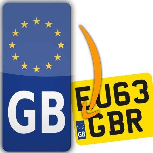 GB Euro Motorbike Motorcycle Number Plate Vinyl Sticker Europe road-legal (GB Euro) stika.co