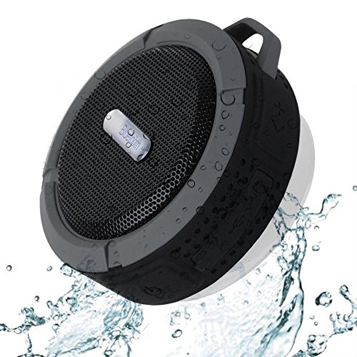 SportsMind Bluetooth Speakers, IPX4 Waterproof Wireless Portable High Performance Bass Stereo Shower Speaker for Samsung iPhone iPad Sony LG Laptop MP3 Players Tablet (Black)