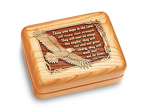 Music Box 4x3'' - Isaiah 40:31 - Amazing Grace by Heartwood Creations