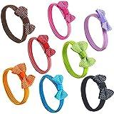 Topro Polka Dot Hair Bow Ribbon Handmade Hair Accessory Pack of 8