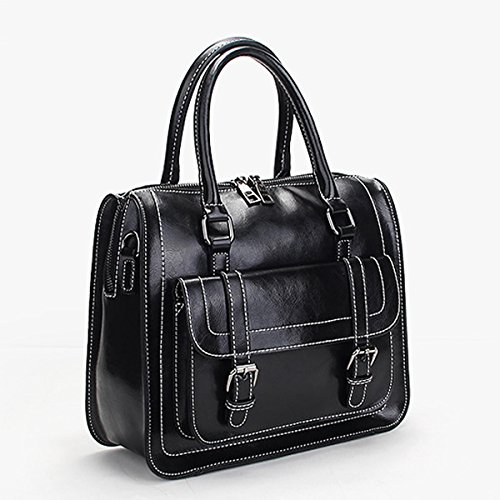 fashion bandoulière main portés femme à Sac cuir Sac Sac Noir portés main M076 Sac en LF épaule Valin q1HAX