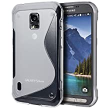 Samsung Galaxy S5 Active Case, Cimo [Wave] Premium Slim TPU Flexible Soft Case For Samsung Galaxy S 5 V Active (2014) - Clear
