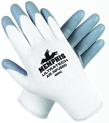 Memphis Glove Ultratech Air Infused Seamless 15 Gauge Nylon Knit Gloves with Straight Thumb
