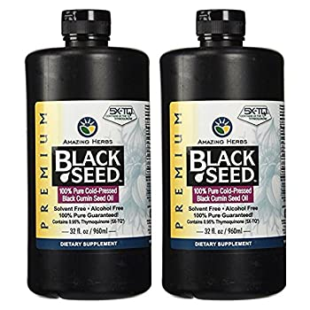 Image of Amazing Herbs Black Seed Cold-Pressed Oil - 32oz (Pack of 2) Health and Household