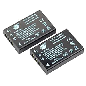DSTE 2pcs NP-120 Replacement Li-ion Battery for Fujifilm FinePix 603, FinePix F10, FinePix F10 Zoom, FinePix F11, FinePix F11 Zoom, FinePix M603, FinePix M603 Zoom
