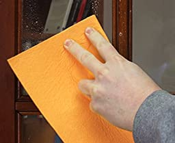 The Newest Original German Shammy - Commercial Grade 260gm Drying Chamois (7, Orange (Large)