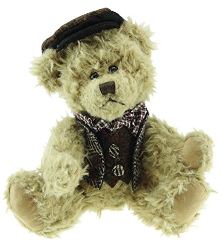 Glen Appin Traditional Scruffy Teddy Bear with 100% Authentic Harris Tweed Waistcoat and ()