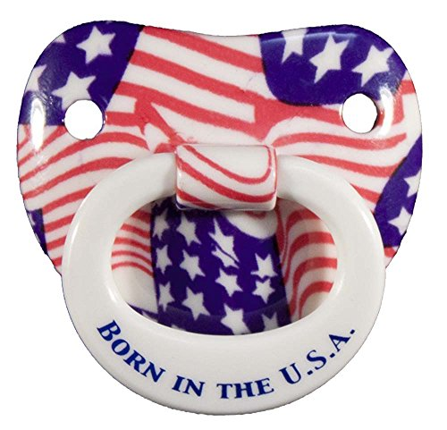 KIDS BORN IN THE USA AMERICAN FLAG NOVELTY CHILDS PACIFIER - Flag Pacifier