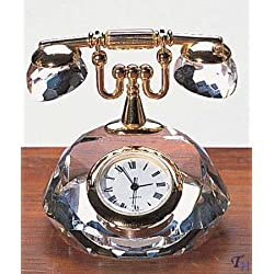 Badash Crystal Mini Telephone Clock- SU307