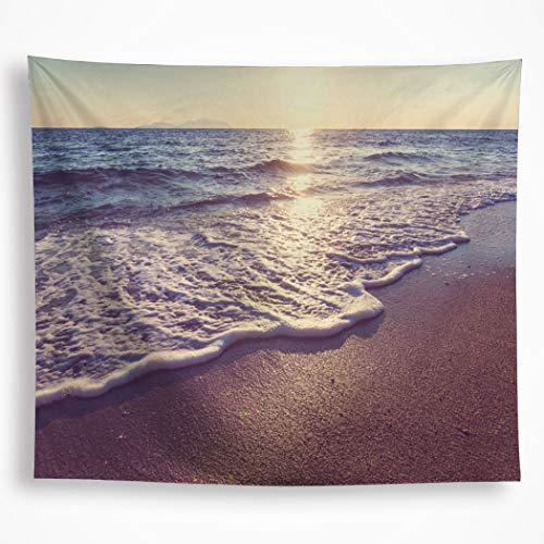 VAKADO Ocean Waves Tapestry Wall Hanging Beach Sunset Nature Scene Sunrise Sea Water Wall Blanket Art Decor for Dorm Bedroom Living Room 51