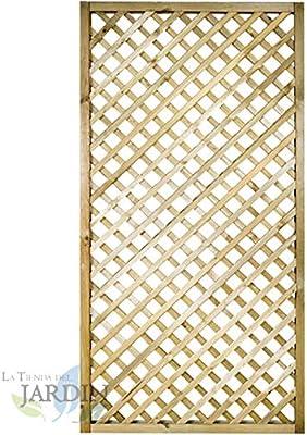 PANEL DE CELOSIA recto 90x180 CM, cuadros 4 cm. Altamente decorativo, alcanzando la ocultación o delimitación deseada en su jardín, terraza, etc.: Amazon.es: Bricolaje y herramientas