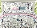 Envogue Kids FULL/QUEEN 6-Piece Parisian/Eiffel Tower Comforter Set with Bonus Quilted Coverlet   Machine Wash