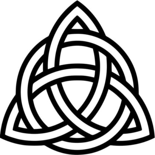 (Triquetra Celtic Knot Pagan Symbol Vinyl Graphic Car Truck Windows Decal Sticker - Die cut vinyl decal for windows, cars, trucks, tool boxes, laptops, MacBook - virtually any hard, smooth surface )