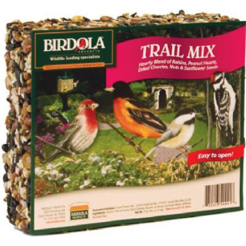 Birdola Trail Mix Seed Cake 2.2 Pounds, Hearty Blend For Wild Birds
