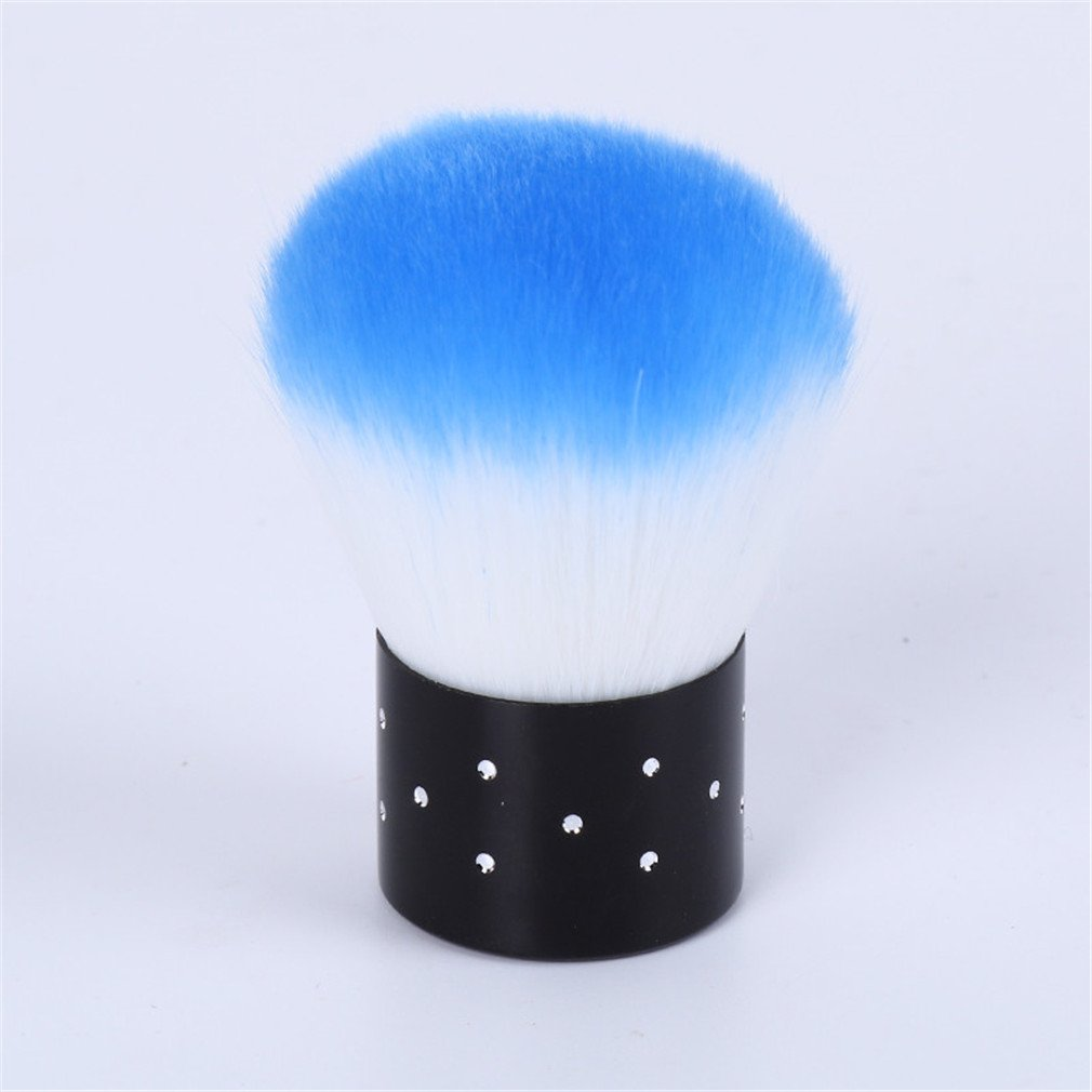 Nail Tools Brush For Acrylic & Nail Art Dust Clean Brush Manicure Pedicure Tool Blue