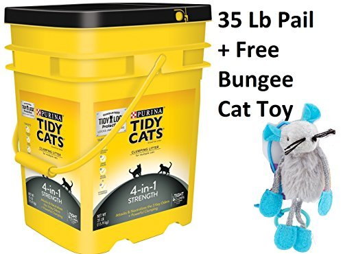 Purina Tidy Cats Clumping Litter 4-in-1 Strength for Multiple Cats 35 lb. Pail (6 Pails + Freebie)