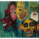 Canvas Prints Of Oil Painting ' Emil Nolde,Masks,1911 ' , 30 x 32 inch / 76 x 81 cm , High Quality Polyster Canvas Is For Gifts And Game Room, Hallway And Kids Room Decoration, cheapwall art