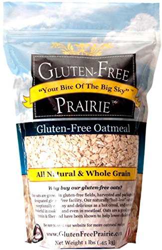 Gluten Free Prairie Oatmeal 1 Pound (Pack of 1), Certified Gluten Free, All Natural, Whole Grain, Vegan, Low Glycemic, Heart Healthy, High in Protein, Fiber, and Vitamin B