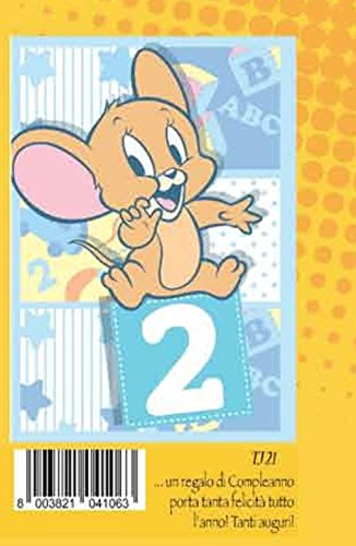Tarjeta Felicitación cumpleaños 2 años Azul Niño Jerry ...