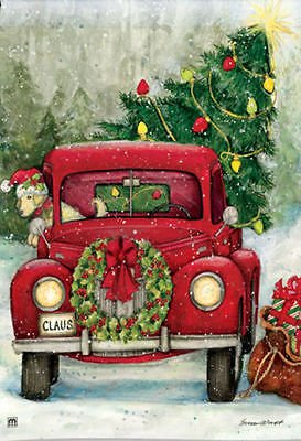 Amazon.com : Bringing The Christmas tree Home In the Old Red Truck ...