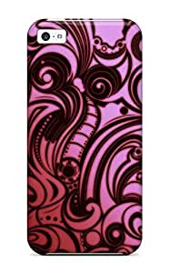 New Abstract Red Tpu Skin Case Compatible With Iphone 5/5s