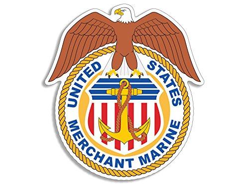 United States Merchant Marines w Eagle Shaped Logo Sticker (seal military) -