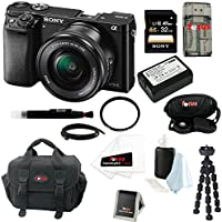 Focus Camera Sony Alpha a6000 ILCE-6000L/B ILCE6000LB 24.3 Interchangeable Lens Camera with Accessories